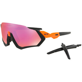 Oakley Flight Jacket Sunglasses neon orange/prizm trail